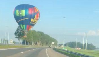 Motorist Narrowly Avoids Crashing Into Out-Of-Control Hot Air Balloon
