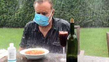 Comedian Hilariously Demonstrates The Problem With Outdoor Dining During A Pandemic