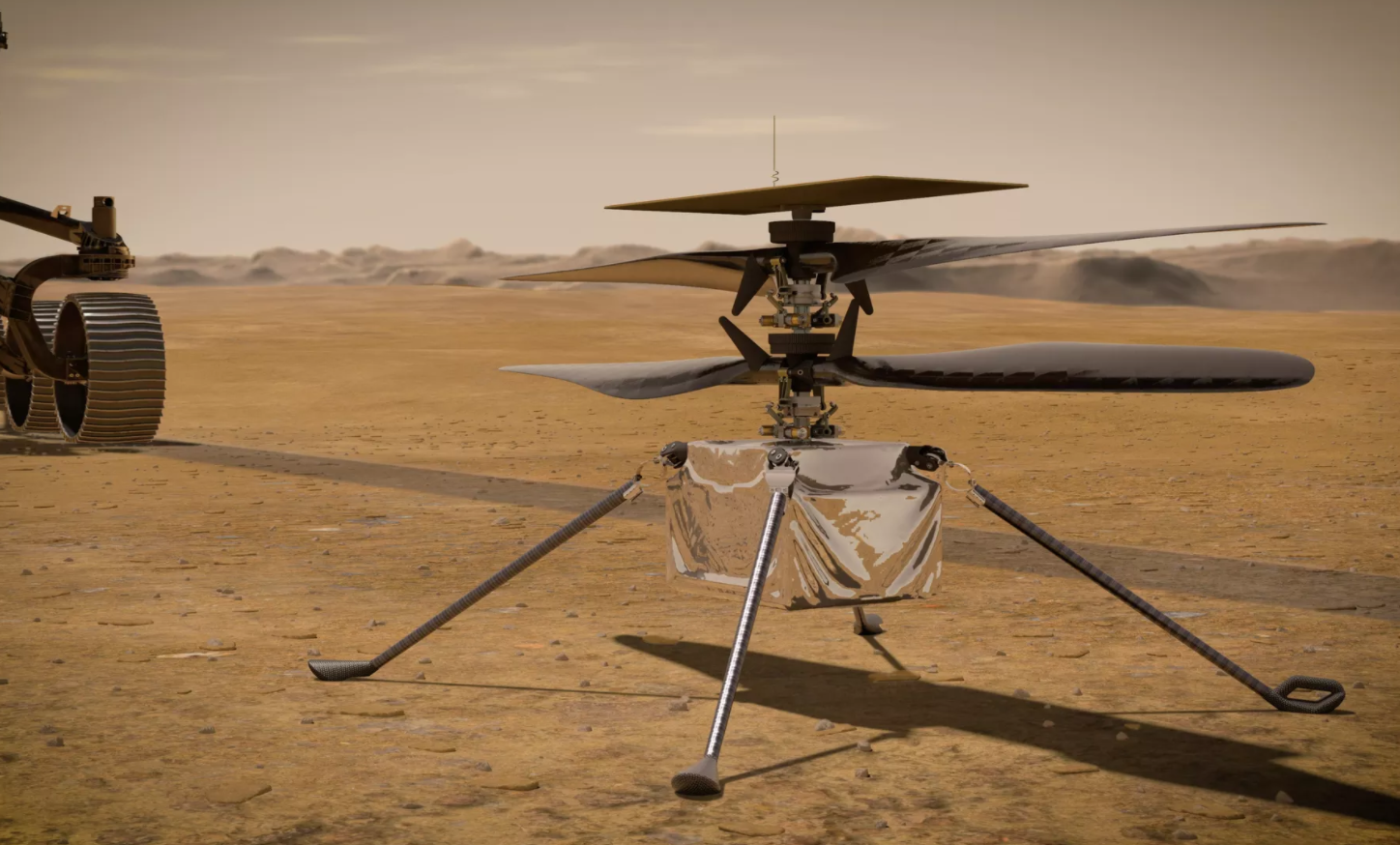 A Stowaway Helicopter On NASA's Mars Rover Will Attempt The First Flight On Another World