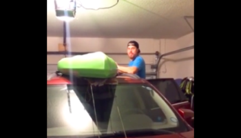 Man Wants To Surprise Wife With Kayak, Does Not Think Things All The Way Through