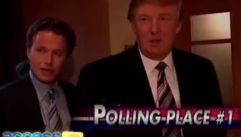 Here's Donald Trump Struggling To Vote In Person At His Polling Place Back In 2004
