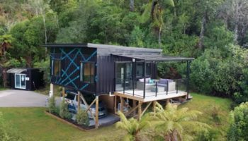 This Woman Built A Tiny House Out Of Three Recycled Shipping Containers