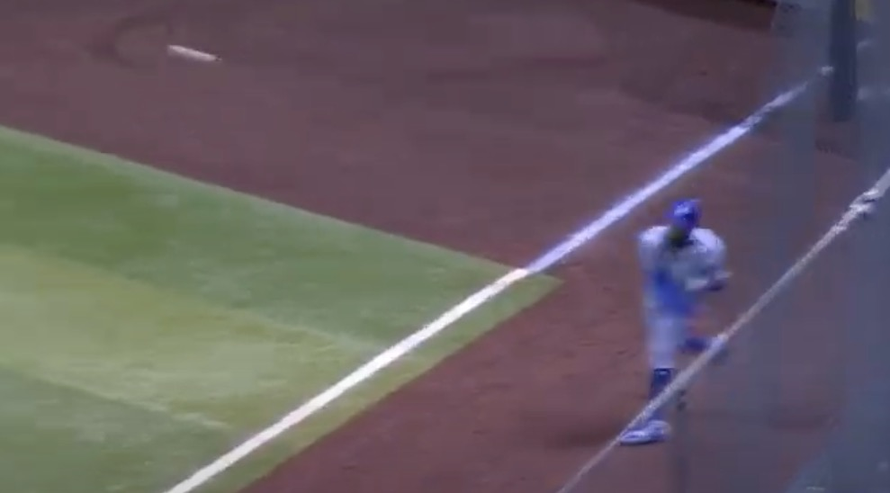 Mookie Betts Makes An Unbelievable Throw From The Outfield To Nail Runner At Third
