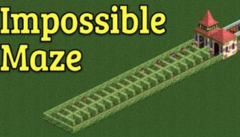 This Gamer Built An Impossible Maze For His Guests In 'RollerCoaster Tycoon 2' And It's Endlessly Entertaining