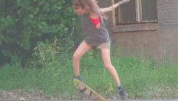 Girl Has The Most Delightful Reaction Pulling Off Her Kickflip For The First Time