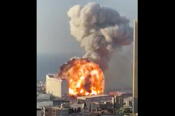 A Large Explosion Ripped Through Beirut. The Footage Is Terrifying