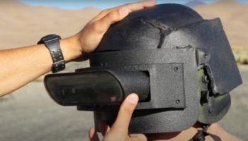 Some Guy Built A Bulletproof Replica Of Tony Stark's Iron Man Helmet