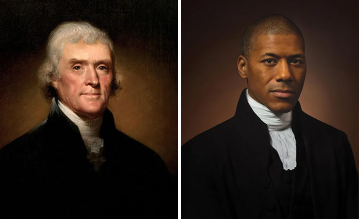 Photographer Captures Side-By-Side Portraits Of Famous Historical Figures And Their Direct Descendants