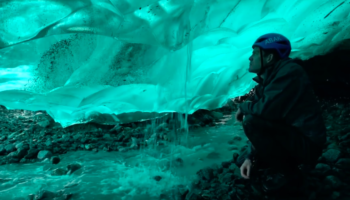 Guy Goes Inside An Ice Cave To Understand Why Glacier Ice Is Such A Unique Blue