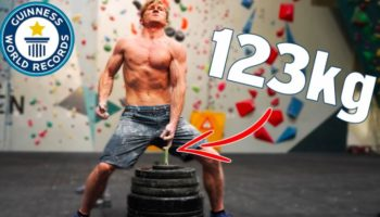 Incredibly Ripped Rock Climber Attempts Breaking Several Challenging World Records