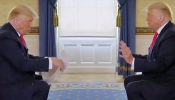 This Edit Of The Recent Trump Interview Has Trump Interviewing Trump And It's Perfect