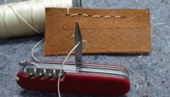 Here's A Useful Demonstration On How To Sew Using A Swiss Army Knife