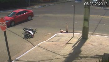 Watch The Frightening Moment A Woman Got Swallowed Up By A Storm Drain After Being Hit By Car