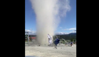 Watch A Dust Devil Utterly Decimate A Fruit Stand Like A Mini-Tornado
