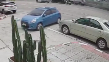 Watch A Car Drift Across Five Lanes Of Busy Traffic Like An Unbelievably Lucky Game Of 'Frogger'