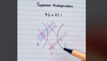 TikToker Shows A Japanese Method Of Doing Multiplication, And It's Blowing Our Minds