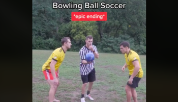 This Soccer Game With A Bowling Ball Is A Bad Idea From Start To Finish
