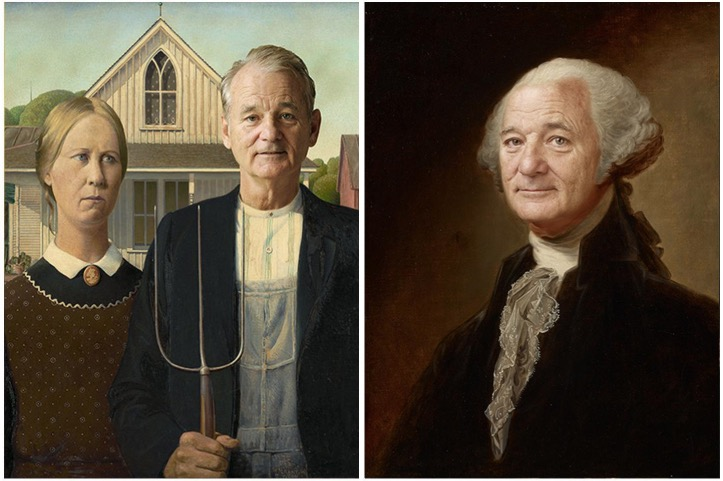Artist Inserts Bill Murray's Face Into Famous Paintings, Wins The Internet - Digg