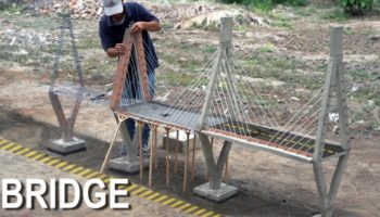 Here's An Oddly Satisfying Time Lapse Of A Man Building A Miniature Concrete Bridge