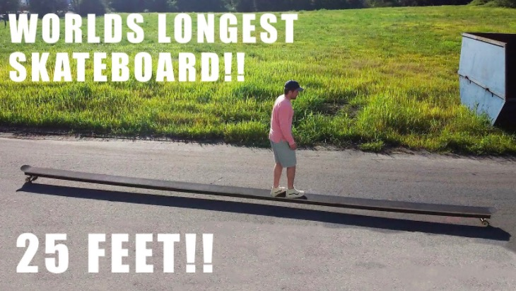 Guy Builds The World's Longest Skateboard And It's An Epic Ride