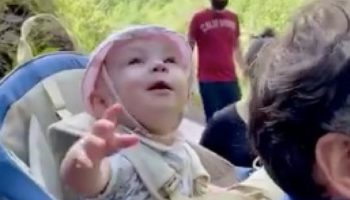 This Baby's Reaction To Seeing A Waterfall For The First Time Is The Most Pure Thing You'll See Today