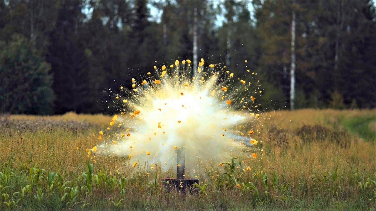 YouTubers Blow Up Pumpkins Using Different Grades Of Low And High End Explosives
