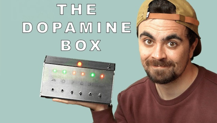 Guy Builds A Device That Gives Him A Shot Of Dopamine After He Completes A Task