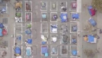 This Drone Footage Above San Francisco's Homeless Encampment Is Eerie