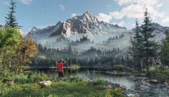 Someone Transformed A Bob Ross Painting Into A Full 3D Environment