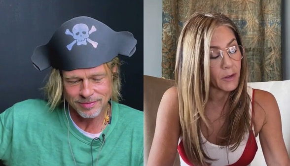 Brad Pitt And Jennifer Aniston Reunite In An All-Star Virtual Table Read Of 'Fast Times At Ridgemont High'
