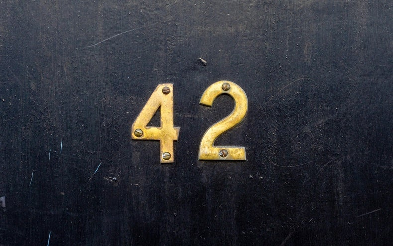 For Math Fans: A Hitchhiker's Guide To The Number 42