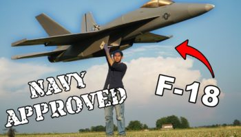 Here's What Happens When You Try To Build A Giant F-18 Plane Out Of Foam