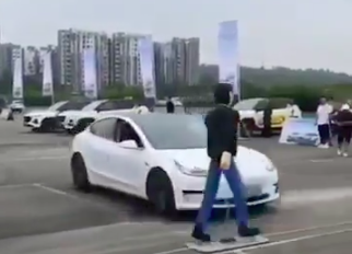 Watch A Tesla Model 3 Fail A Brake Test And Obliterate A Pedestrian Dummy