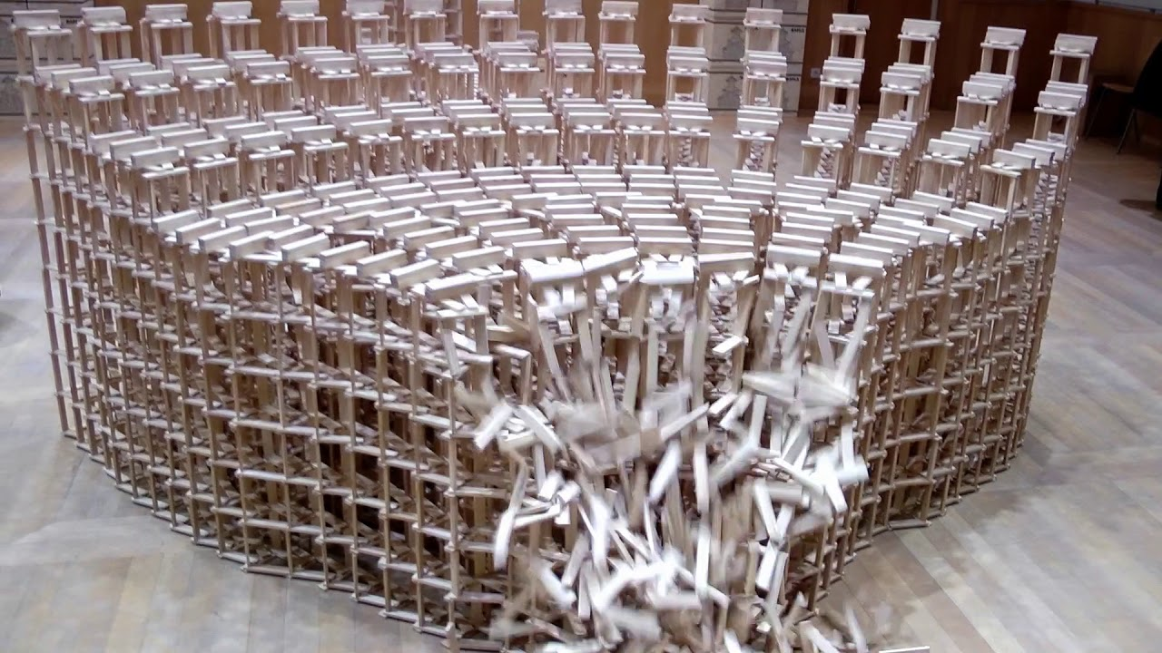 Model Builder Builds A Coliseum With 22,000 Dominos, Makes It All Fall Down Within A Minute
