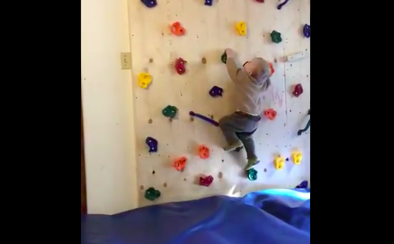 Kid Can't Stop Climbing Furniture, So His Parent Built Him This Instead