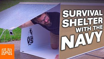 YouTuber Is Challenged By The Navy To Build A Survival Shelter From Scratch