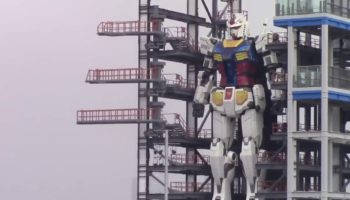 Watch A 60-Foot-Tall Gundam Robot Replica Come To Life In Japan