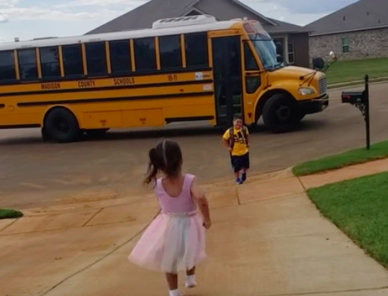 Brother And Sister Have The Most Wholesome Reunion After His First Day At School