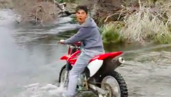 Why It's A No Good, Very Bad Idea To Cross A River On A Motorbike