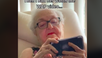91-Year-Old Grandmother Has The Most Precious Reaction To Watching 'WAP' For The First Time