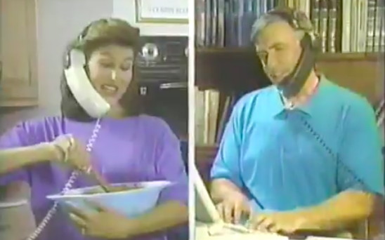 This 1993 Ad For A 'Hands-Free' Telephone Set Is As Ridiculous As It Sounds