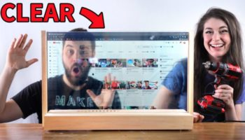 These YouTubers Built A See-Through Computer Screen, And They're Living Like It's The Year 3020