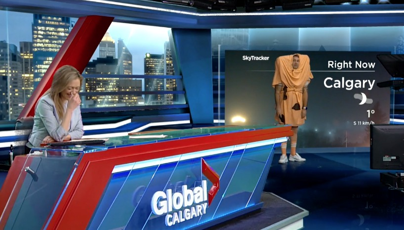 News Anchor Loses It When Meteorologist Shows Off His 'Cheese Buns' Halloween Costume - Digg