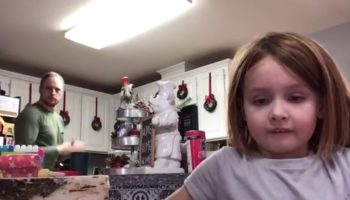 This Dad Hysterically Photobombs His Daughter's Class Presentation