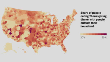 A Detailed Map Of Where Americans Are Staying Home For Thanksgiving