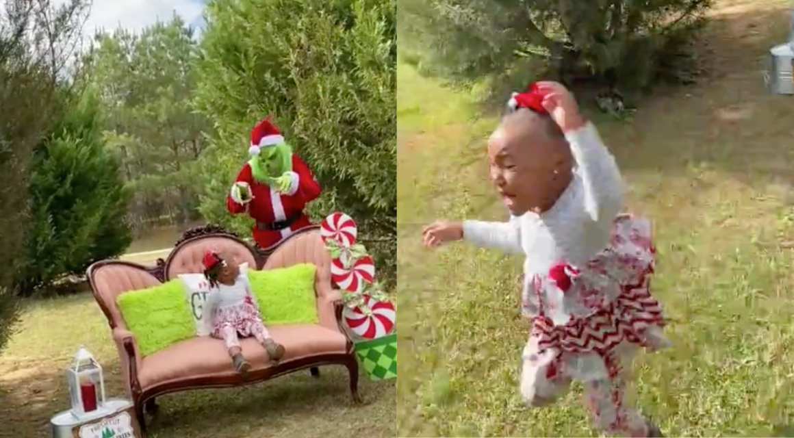 Toddler Gets Spooked To The Core By Grinch Prank During Photoshoot