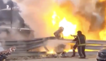 Watch F1 Driver Make Miraculous Evacuation From Burning Car