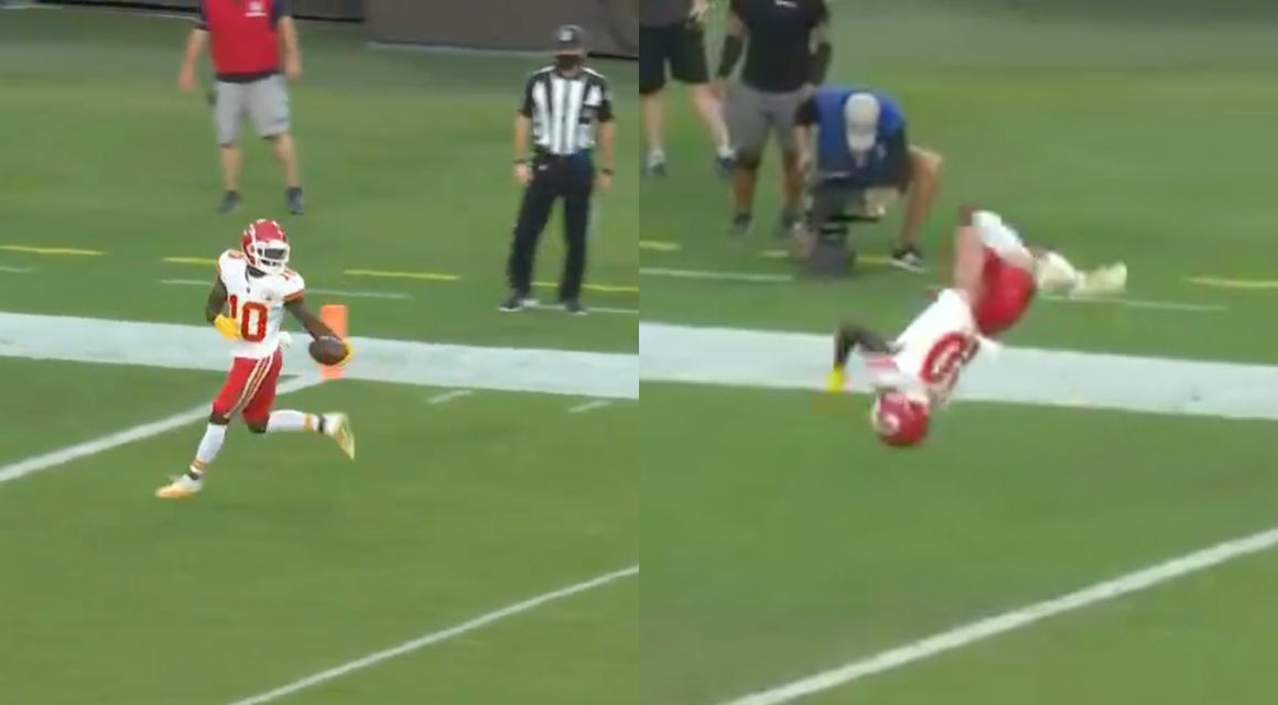 Kansas City Wide Receiver Casually Backflips Into The End Zone