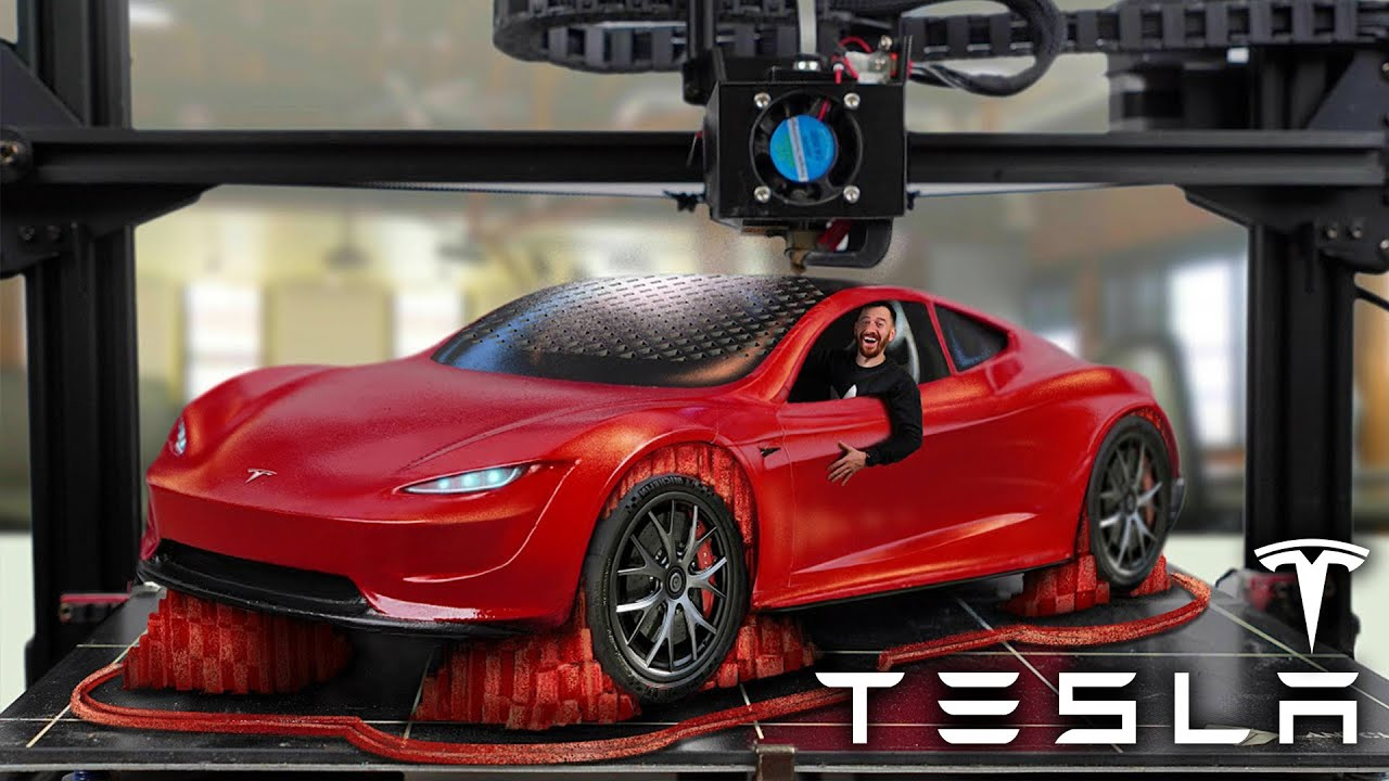 Someone 3D Printed A Tiny Tesla Roadster To See How Fast ...