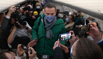 Alexey Navalny Detained On Return To Moscow Five Months After Being Poisoned